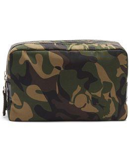 Camouflage-print Nylon Washbag