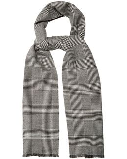 Prince Of Wales-checked Wool Scarf