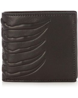 Ribcage-embossed Leather Wallet