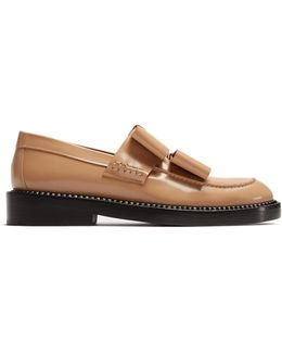Bow-detail Leather Loafers