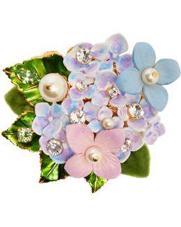 Hydrangea Embellished Brooch