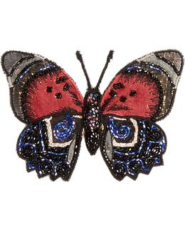 Embroidered-butterfly Brooch