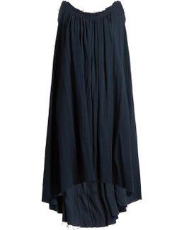 Gathered Organic-cotton Dress
