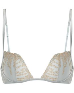 Daphne Embroidered-tulle Plunge Bra