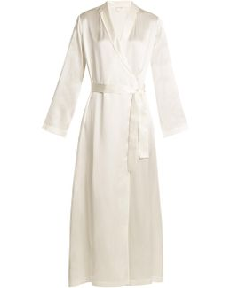 Silk-satin Robe