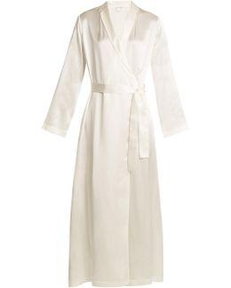 Silk-satin Robe