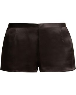Silk-satin Pyjama Shorts