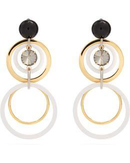 Big Hoop And Crystal-embellished Earrings