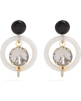 Crystal-embellished Hoop Drop Earrings