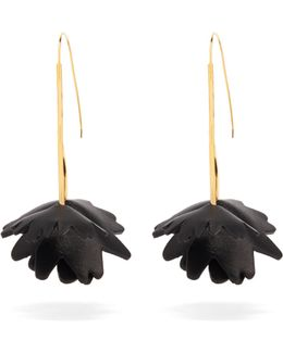 Flower Leather-embellished Earrings