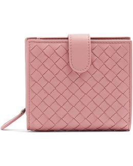 Intrecciato Bi-fold Leather Wallet