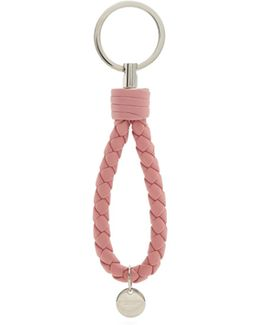 Intrecciato Leather Knot Key Ring