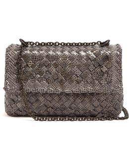 Olimpia Intrecciato Water-snake Shoulder Bag