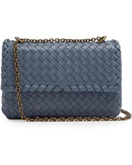 Olimpia Small Intrecciato Leather Shoulder Bag