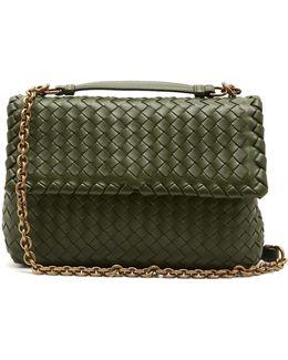 Olimpia Small Intrecciato-leather Shoulder Bag