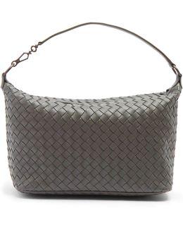 Intrecciato-woven Leather Shoulder Bag