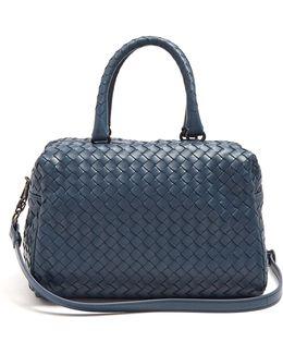 Boston Small Intrecciato Leather Bag