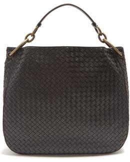 Loop Large Intrecciato Leather Shoulder Bag