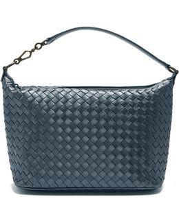 Intrecciato Small Leather Shoulder Bag