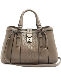 Roma Small Intrecciato Leather Tote