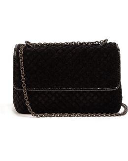 Olimpia Intrecciato Velvet Shoulder Bag
