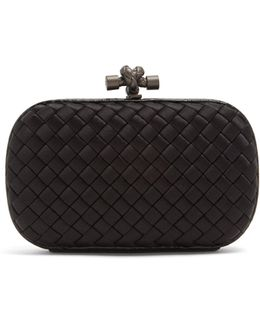 Knot Satin And Water-snake Clutch