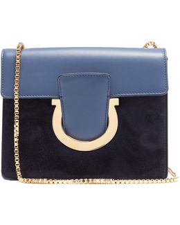 Thalia Leather And Suede Cross-body Bag