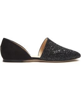 Globe Glitter And Suede Flats