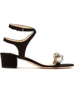 Marine Crystal-embellished Suede Sandals