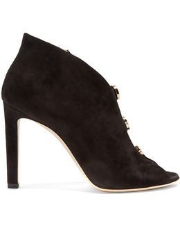 Lorna 100mm Suede Ankle Boots