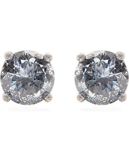 Cubic Zirconia And Silver Earrings