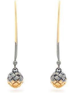 Intrecciato-engraved Long Earrings