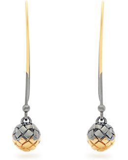 Intrecciato-engraved Long Earrings