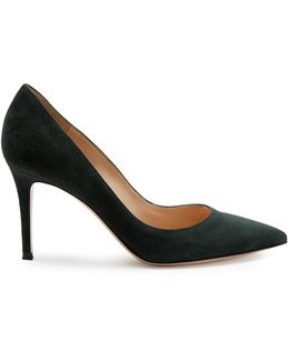 Gianvito Point-toe Suede Pumps
