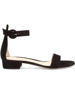 Portofino Block-heel Suede Sandals