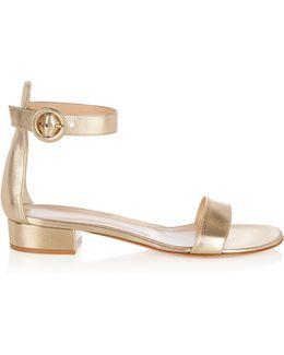 Portofino Leather Block-heel Sandals