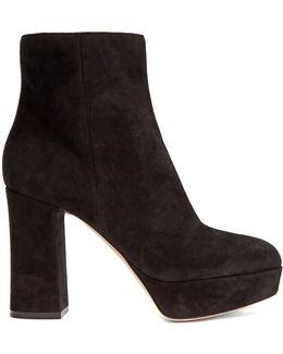 Foley Suede Platform Ankle Boots