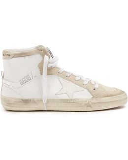 Super Star High-top Leather And Suede Trainers