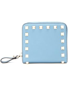 Rockstud Compact Leather Wallet
