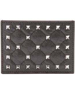 Rockstud Spike Quilted-leather Cardholder