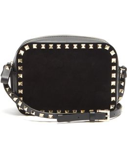 Rockstud Camera Leather Cross-body Bag