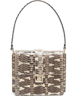 Rockstud-embellished Water-snake Bag