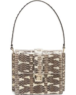 Rockstud-embellished Water-snake Bag