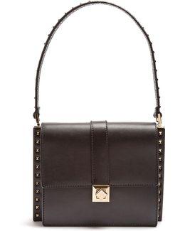 Rockstud-embellished Leather Bag