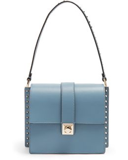 Rockstud-embellished Leather Bag