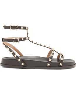 Submerge Rockstud Leather Sandals