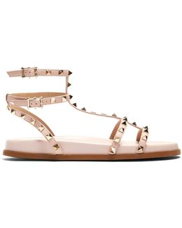 Submerge Rockstud Leather Sandal