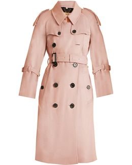 Lakestone Double-breasted Cashmere Trench Coat
