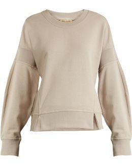 Round-neck Cotton-jersey Sweatshirt