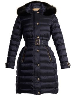 Ashmore Fur-trimmed Quilted Down Coat
